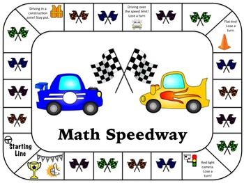 5th Grade Math Board Game- Math Speedway (STAAR Aligned)