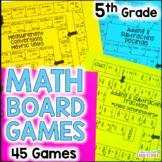 5th Grade Math Board Games YEAR LONG Bundle!