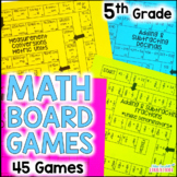 5th Grade Math Board Games YEAR LONG Bundle!