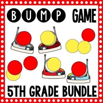5th Grade Math - 40 Bump Games - Growing Bundle!