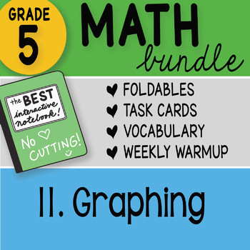 Doodle Notes - 5th Grade Math Bundle 11. Graphing