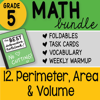 Doodle Notes - 5th Grade Math Bundle 12. Volume