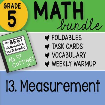 Doodle Notes - 5th Grade Math Bundle 13. Measurement