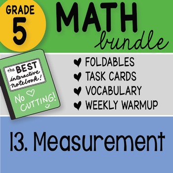 Doodle Notes - 5th Grade Math Bundle 13. Measurement