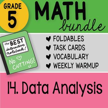 Math Doodle - 5th Grade Math Bundle 14. Data Analysis