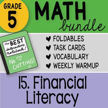 Doodle Notes - 5th Grade Math Bundle 15. Financial Literacy