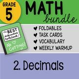 Math Doodle - 5th Grade Math Bundle 2. Decimals