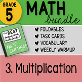 Math Doodle - 5th Grade Math Bundle 3. Multiplication