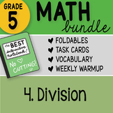 Math Doodle - 5th Grade Math Bundle 4. Division