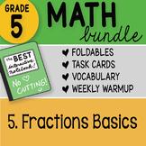 Math Doodle - 5th Grade Math Bundle 5. Fraction Basics