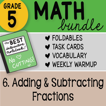 5th Grade Math Bundle 6. Adding and Subtracting Fractions