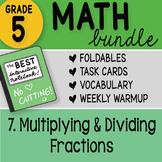 Math Doodle - 5th Grade Math Bundle 7. Multiplying and Dividing Fractions