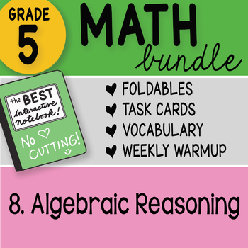 Doodle Notes - 5th Grade Math Bundle 8. Algebraic Reasoning