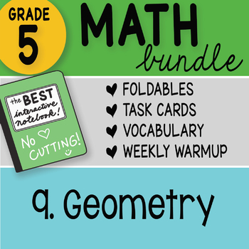 Doodle Notes - 5th Grade Math Bundle 9. Geometry