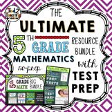 5th Grade Math Bundle with Test Prep