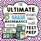 5th Grade Math Bundle with Test Prep