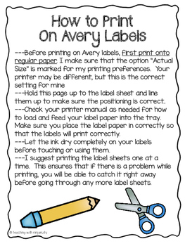 5th Grade Math CCSS Folder Labels