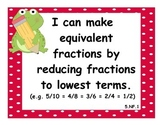 5th Grade Math CCSS I Can Statements - Frog Theme