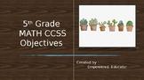 5th Grade Math CCSS Objectives