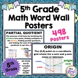 498 Math Word Wall Posters for 5th Grade with Definitions & Examples