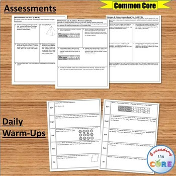 5th Grade Math COMMON CORE BUNDLE Assessments, Warm-Ups, Task Cards, Worksheets