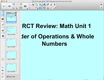 5th Grade Year-End Math Test Review SMART Board