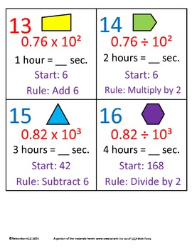 5th Grade Math Calendar - Decimal Patterns, Time, Geometry, Finding the Rule