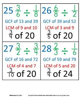 5th Grade Math Calendar - Preview 6th Grade Skills