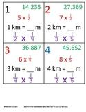 5th Grade Math Calendar - Round Decimals, Multiply Fractions, Length, Line Graph