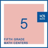 5th Grade Math Centers for the Entire School Year