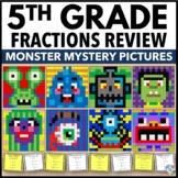 5th Grade Fraction Task Cards: Color-by-Number Worksheets