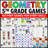 5th Grade Geometry Games {Coordinate Plane, Quadrilaterals, Number Patterns...}