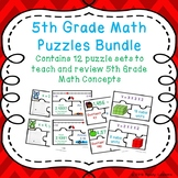 First Day of School Activities 5th Grade Math Games Puzzles Bundle