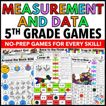 5th Grade Math Centers: 5th Grade Measurement and Data Games