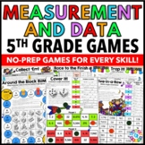 5th Grade Measurement and Data Games {Metric Conversions, Line Plots, Volume..}