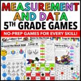 5th Grade Measurement and Data Games {Metric Conversions, Line Plots, Volume..}