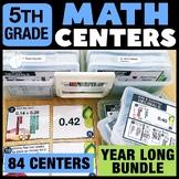5th Grade Math Centers Bundle - 5th Grade Math Task Cards