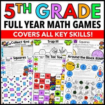 5th Grade Math Bundle {Place Value, Decimals, Fractions, Measurement, & More!}