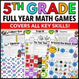 5th Grade Math Centers: 5th Grade Math Games No Prep Bundle