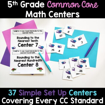 5th Grade Math Centers -Covers ALL 5th Grade Math Standards
