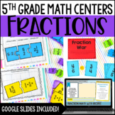 5th Grade Math Centers {Fractions}