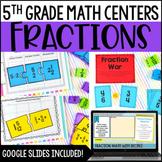 5th Grade Math Centers - Fraction Math Centers w/ Digital Math Activities