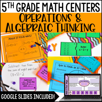 5th Grade Math Centers {Operations and Algebraic Thinking}