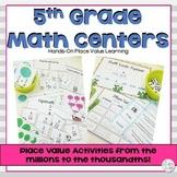5th Grade Math Centers Fractions & Place Value Bundle