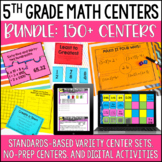 5th Grade Math Centers - with Digital Math Activities for Distance Learning
