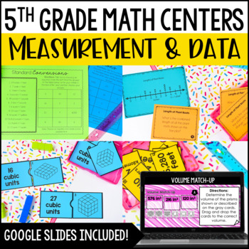 5th Grade Math Centers {Measurement and Data}