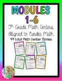 5th Grade Math Centers- Modules 1-6 Eureka Math BUNDLE