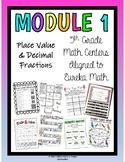 5th Grade Math Centers- Module 1 Eureka Math BUNDLE