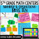 5th Grade Math Centers {Number and Operations: Base Ten}