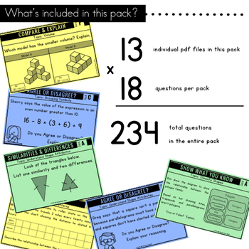 5th Grade Math Centers | Problem Solving | Solve and Explain